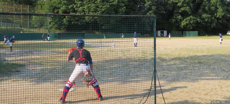 ボールの感触や、チームプレーをゆっくりと確認していました。