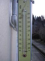 今朝の気温(-7℃)