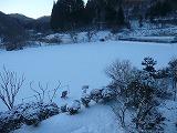 雪景色の校庭1